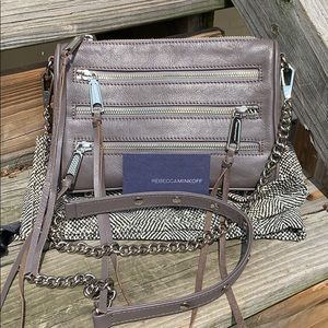 Rebecca Minkoff small gray crossbody bag